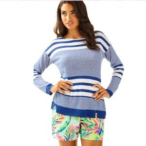 Lilly Pulitzer Camilla Striped Boatneck Sweater